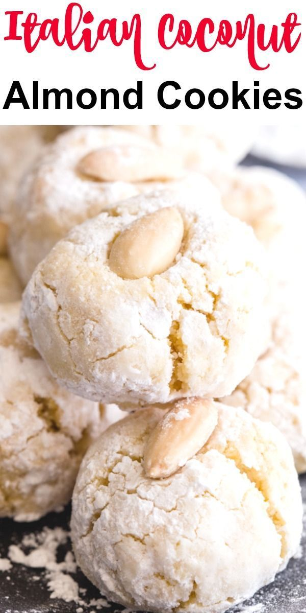 Photo of Italian Coconut Almond Cookies – An Italian in my Kitchen