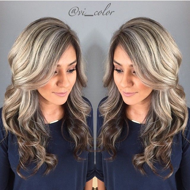 Soft Brown Base Color And Light Ash Blonde Highlights By Vict