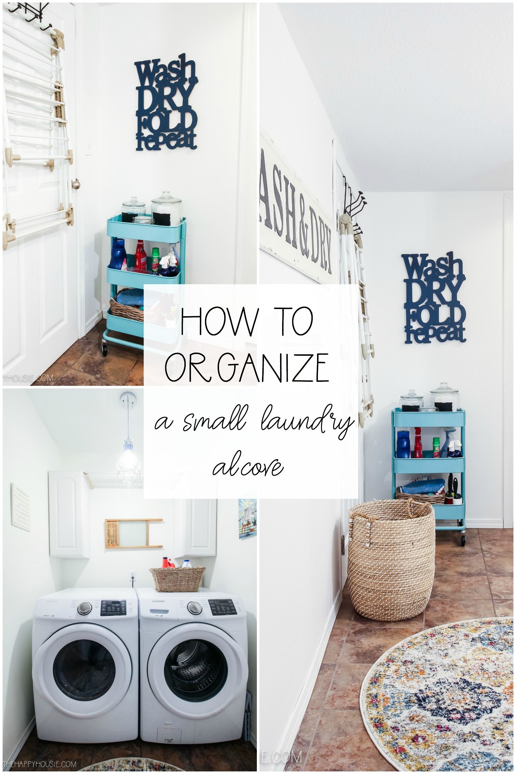 How To Organize Your Laundry Space With A Rolling Cart In 2020