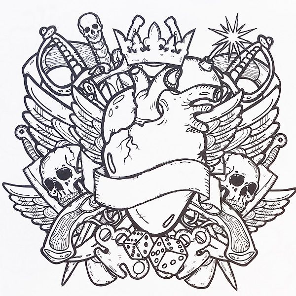 Tattoo Designs - Adult Colouring Book - Colour Me Awesome ...