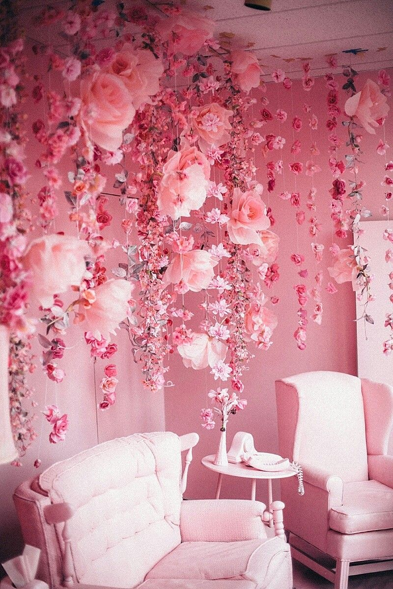 Pink Flower Room Decorations Pink Room Decor Pink Aesthetic