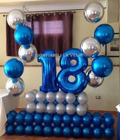 Number Balloons Letter 18th Birthday Party Boy Balloon Decorations