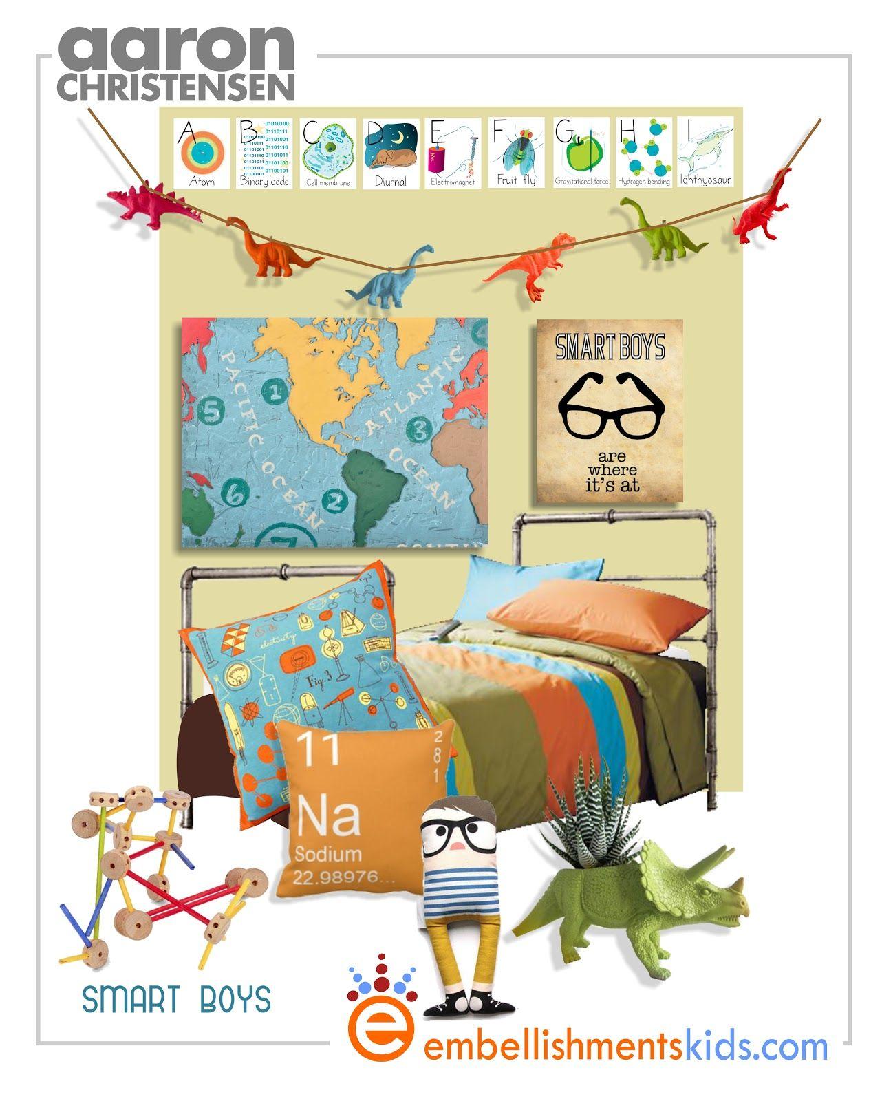 geek chic, science boys room decor mood board - I like the smart ...