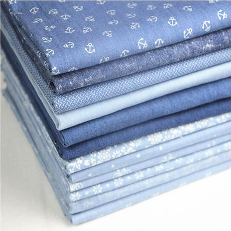 4 Colours 145 cm wide Denim 100/% Cotton Fabric Material Light weight Washed