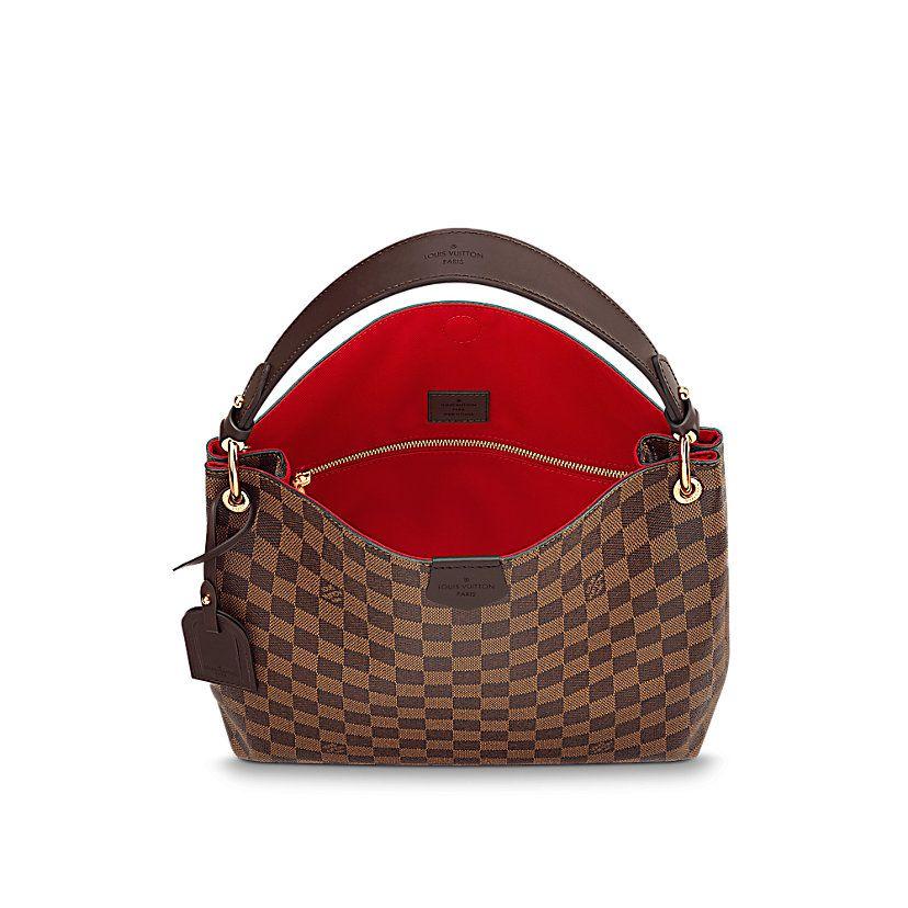 b8f884e01a08d Women's Luxury Christmas Gift - Graceful PM Damier Ebene Canvas Women  Handbags   LOUIS VUITTON