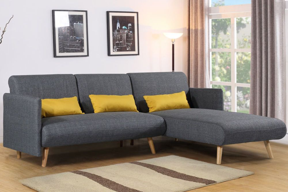 Click Here To See Description Ebay Retro Corner Sofa Grey Sofa Bed Fabric Sofa Bed