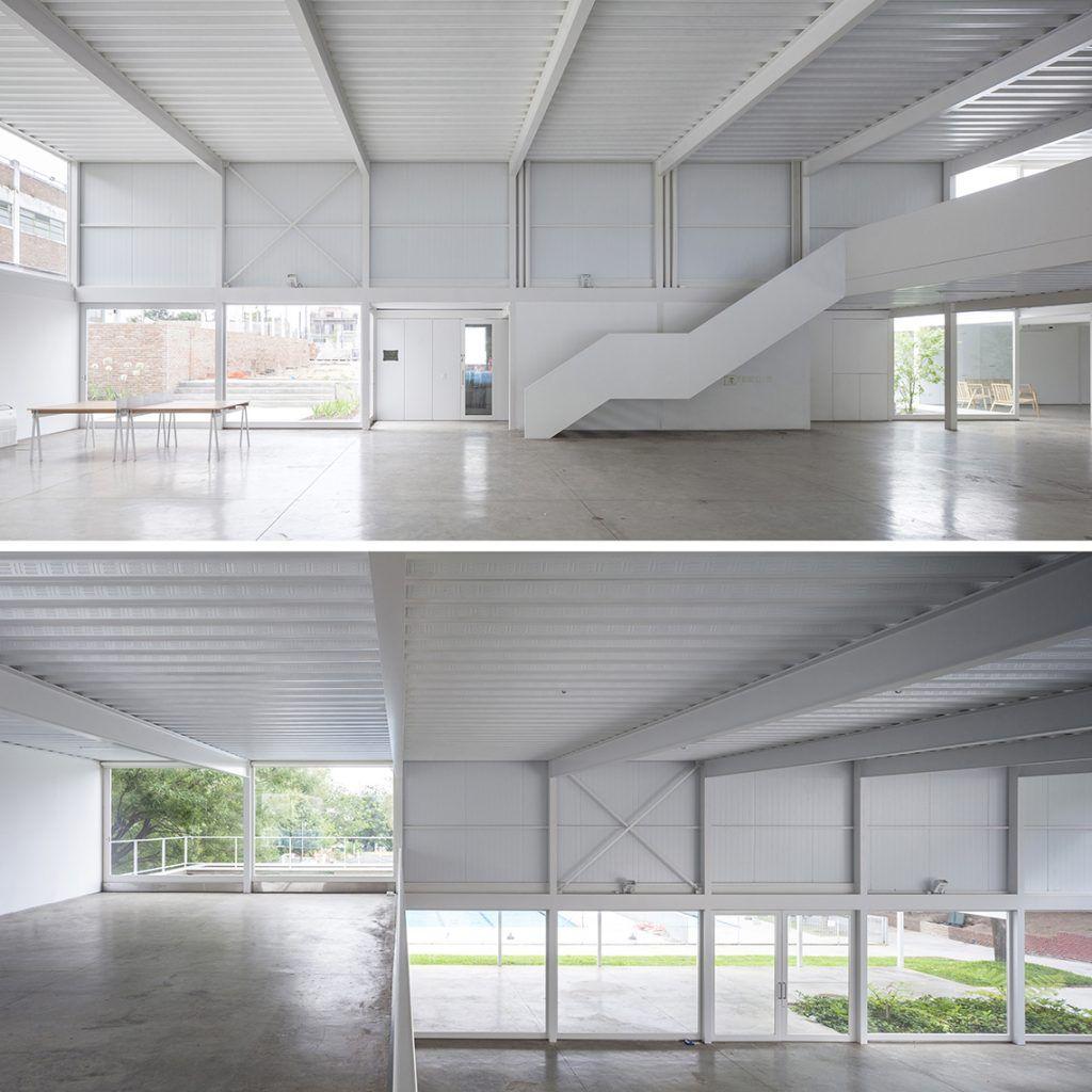 Salon de usos multiples en centro comunitario biaar for Salon de usos multiples programa arquitectonico