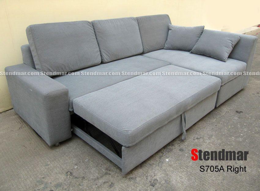 Best New Modern Futon Sleeper Bed Sectional Sofa Set S705A 400 x 300