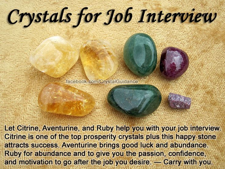 for JOB INTERVIEW- Get these crystals here: https://www.etsy.com/shop/MagickalGoodies