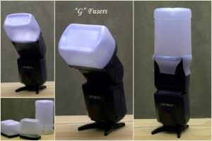 DONE! but for an attached flash // How to make a flash Diffuser! So smart!!