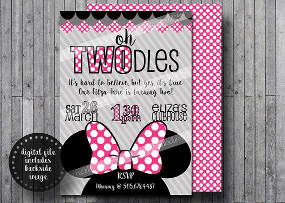 oh twodles invitations free thank you cards toodles minnie mouse
