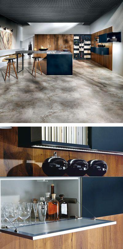 Für jede Gelegenheit gewappnet Praktische Designer Küche aus Holz
