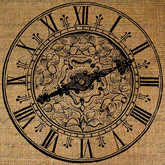 Large clock face roman numerals ornate time digital by graphique 1 00