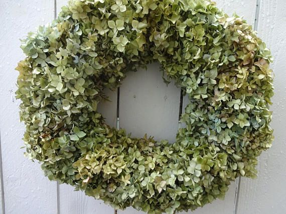 Hydrangea Wreath  Dried Wreath  Wreath  Shabby Chic  Home Decor  Indoor Wreath Natural Wreath  Hostess Gift  Mother's Day Gift