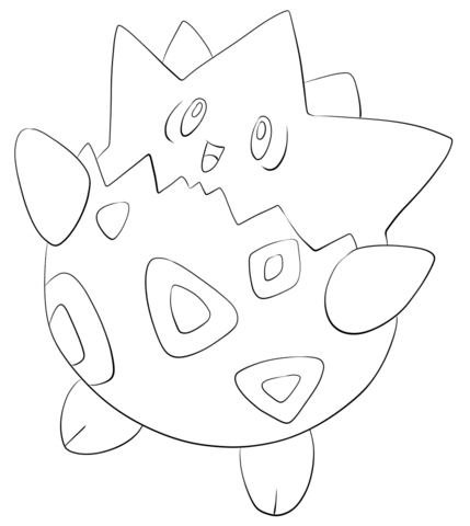 Click to see printable version of Togepi Coloring page | LineArt ...