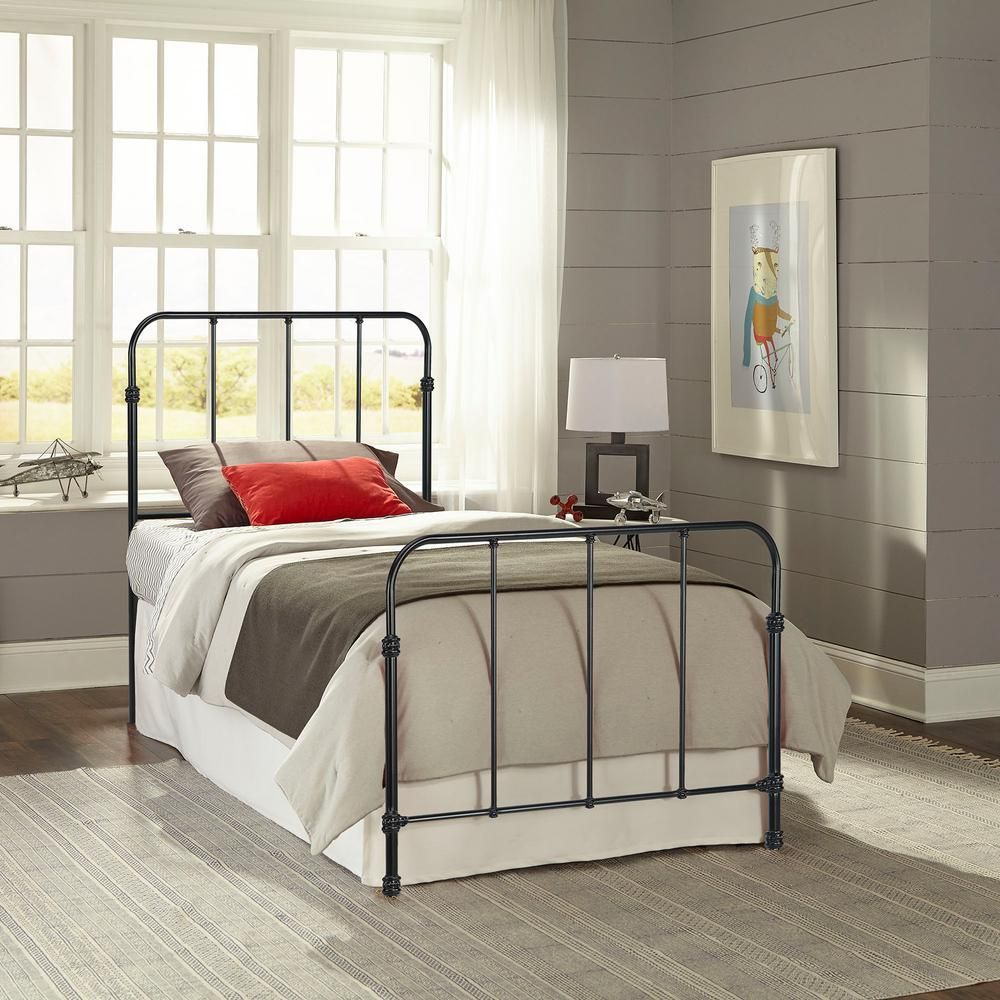 Fashion Bed Group Nolan Space Black Twin Headboard and