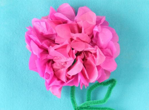 Enjoy A Beautiful Paper Flower Made Out Of Tissue Paper And Pipe