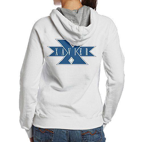 QKBABY Xavier University Musketeers Women s Cool Hooded Sweatshirt White 2106a5784f