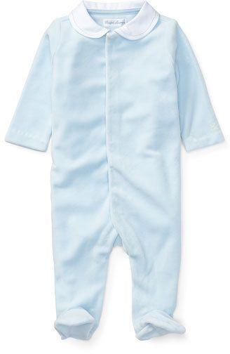 1c0ee617c Ralph Lauren Velour Coverall, Size Newborn-9 Months | baby boy ...