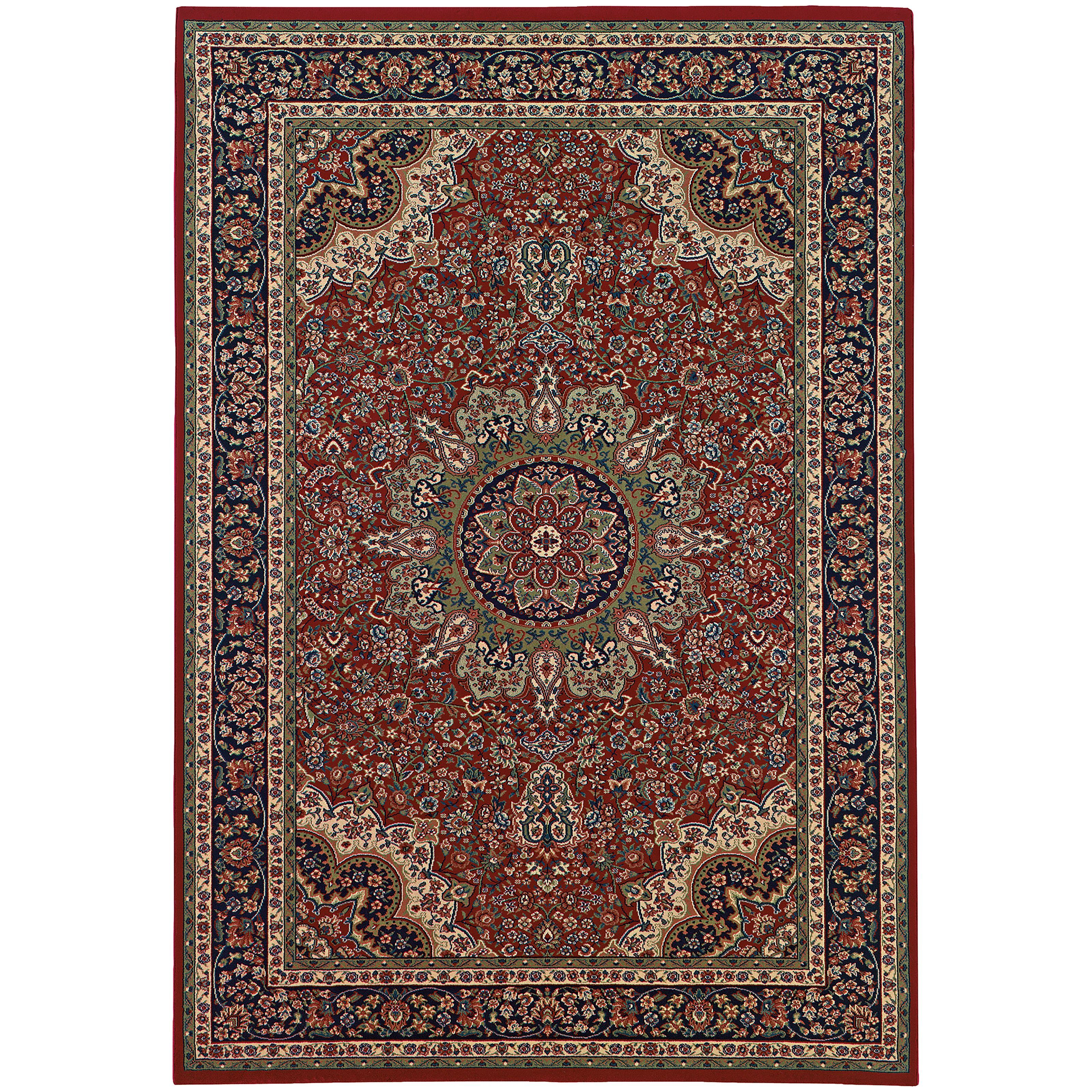 Style Haven Updated Old World Persian Flair Red Blue Area Rug 6 7