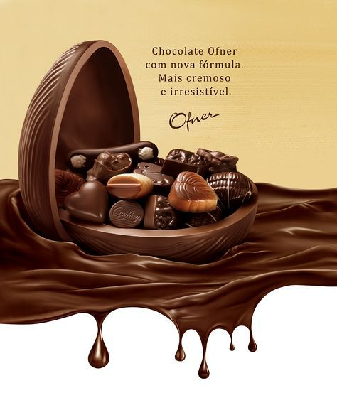 Chocolate Ofner On Behance Food Poster Design Chocolate Design Chocolate Packaging