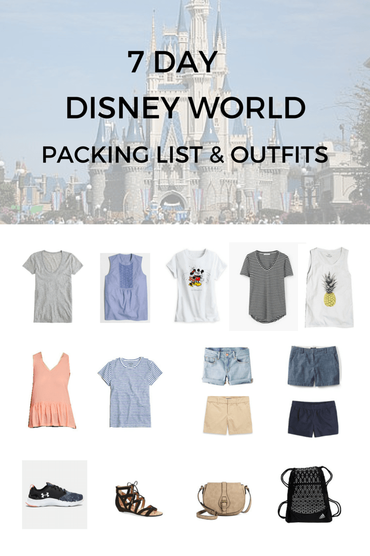 fc61ea66b11 Disney World 7-Day Packing Guide   Outfits