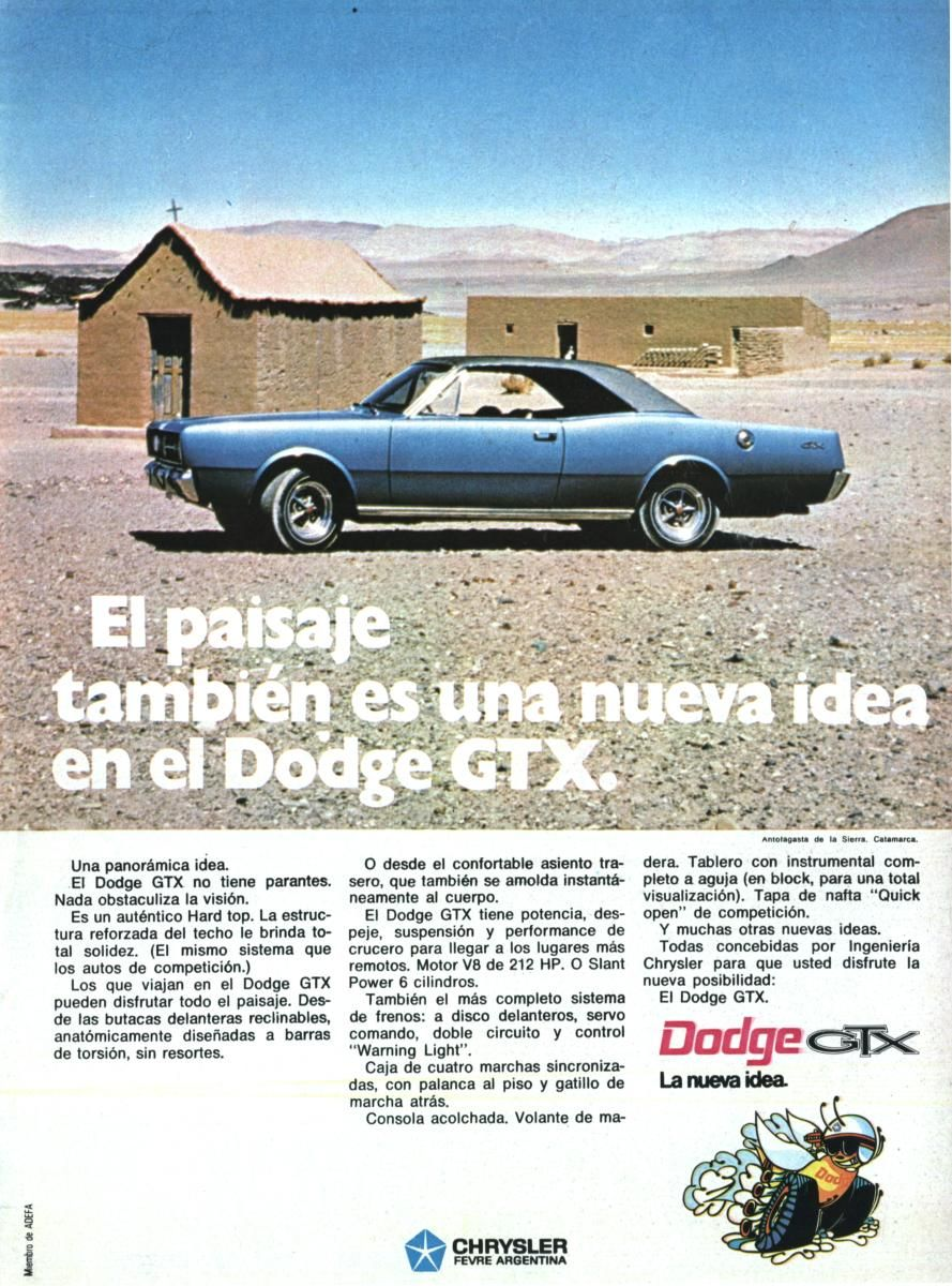 Publicidad Dodge GTX 1971