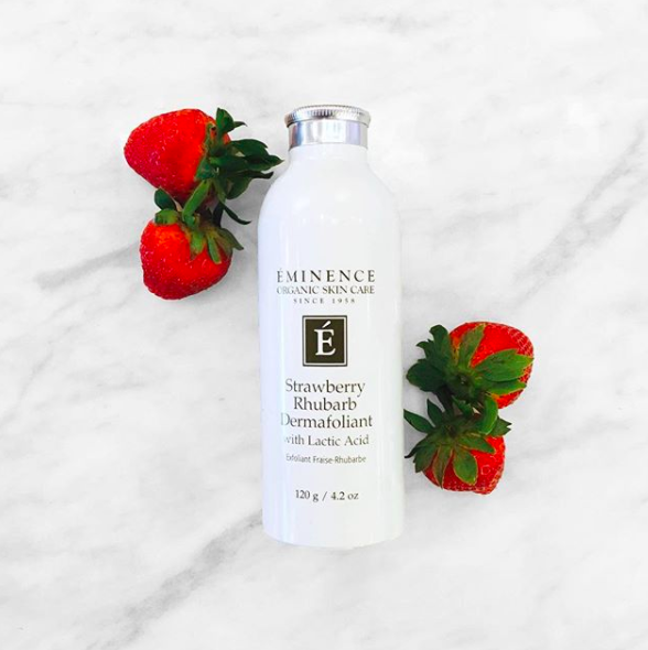 3 Reasons To Add Eminence Organics Strawberry Rhubarb Dermafoliant To Your Skin Care Routine Eminence Organic Skin Care Strawberry Rhubarb Organic Strawberry