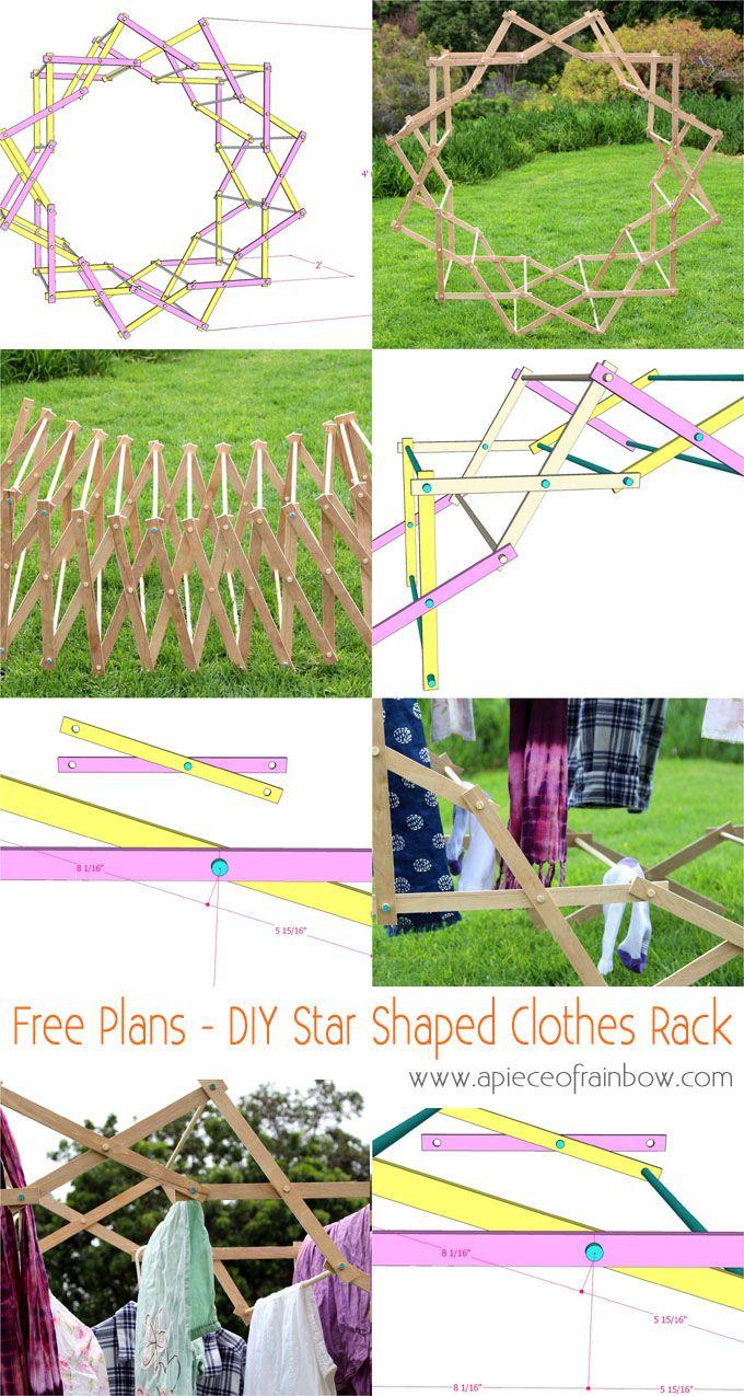Diy Star Shaped Clothes Drying Rack Hometalk Spring