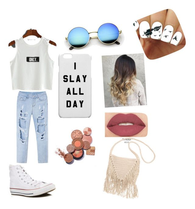 """""""..."""" by jasmineparker686 ❤ liked on Polyvore featuring Converse, Smashbox and Billabong"""