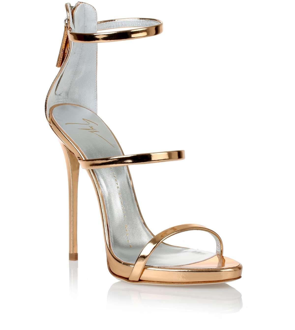 ed8e5a291d2 Metallic rose gold sandal Giuseppe Zanotti. These are classy. Would ...