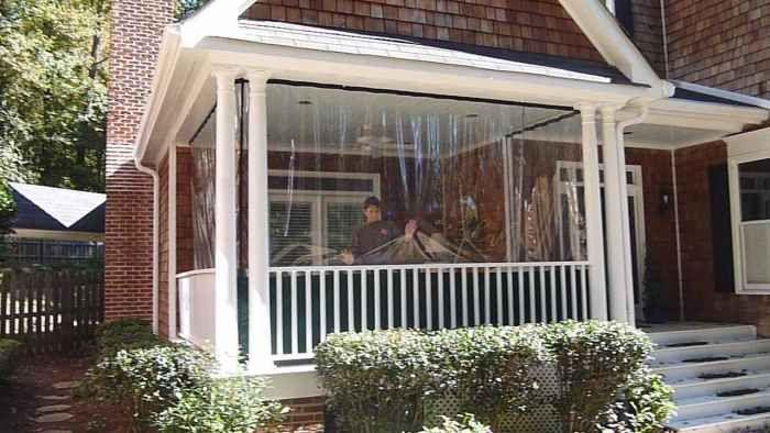 patio enclosures porch curtains