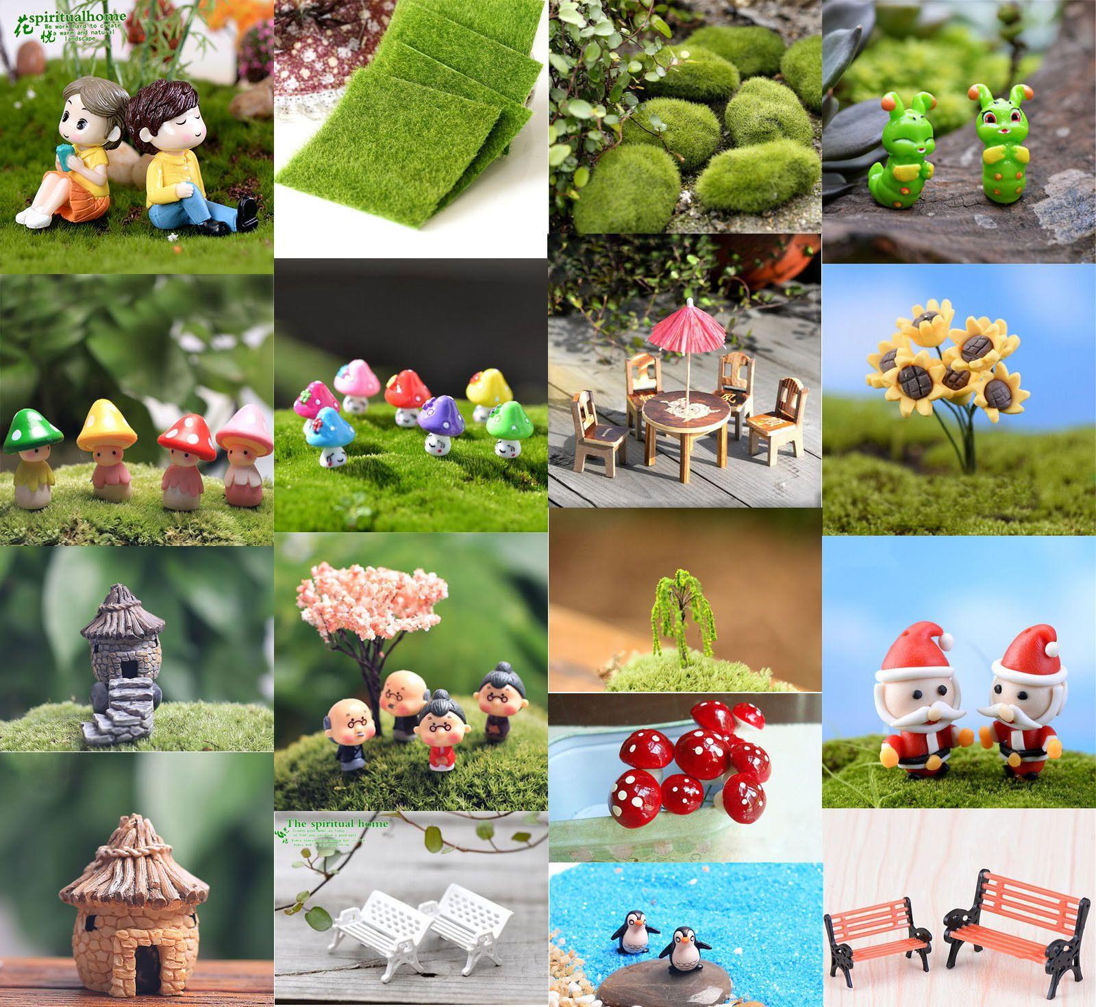 Mini DIY Plant Miniature Fairy Garden Ornament Decor Craft Dollhouse Accessories