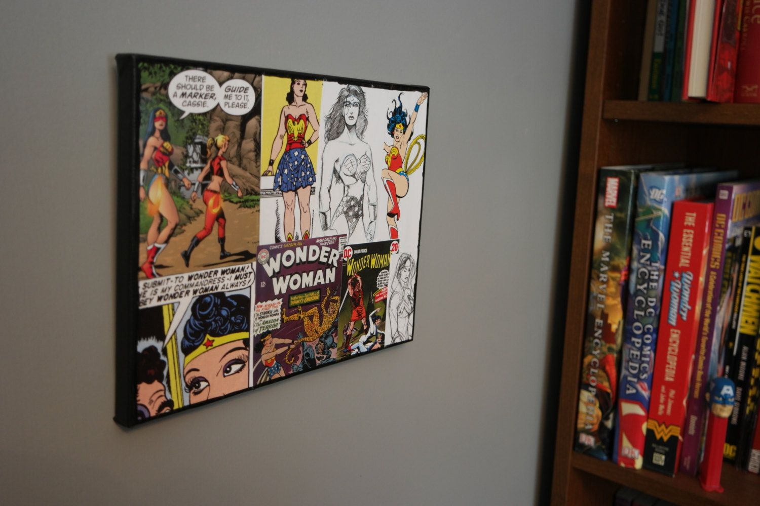 Dc Comics Wonder Woman 8 X 10 Collage Canvas Comic Book Wall Art
