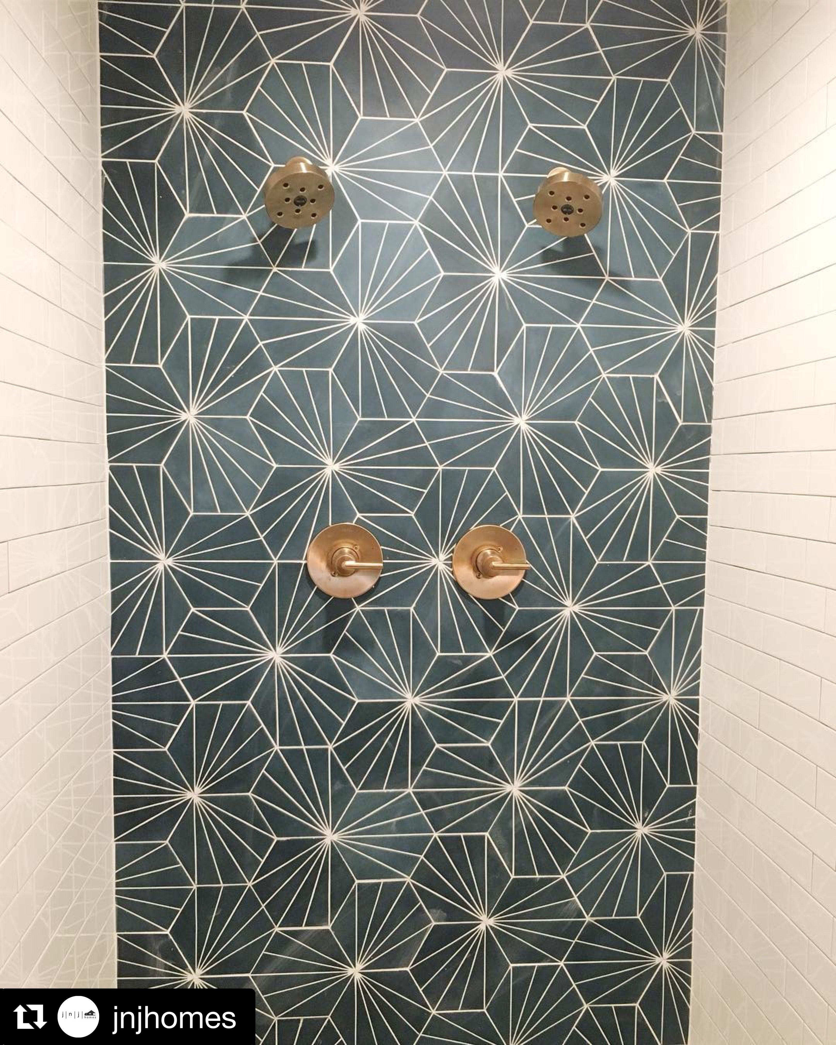 Riad Tile Cement Tile Nola Blue Tile Patterns Geometric Tiles Cement Tile