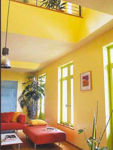 Marier les couleurs de peinture dans salon salle manger for Salle a manger jaune moutarde
