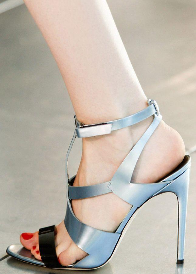 Antonio Berardi Silver Patent Sandal Spring 2014 #Shoes #High #Heels