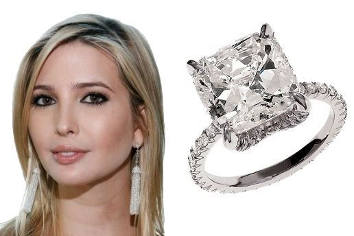 IVANKA TRUMP Ivanka Trump received a stunning 150000 5carat