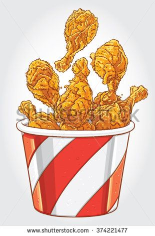 How To Draw Fried Chicken : fried, chicken, Fried, Chicken, Vector, Stock, Images,, Royalty-Free, Images, Vectors, Illustration,, Drawing