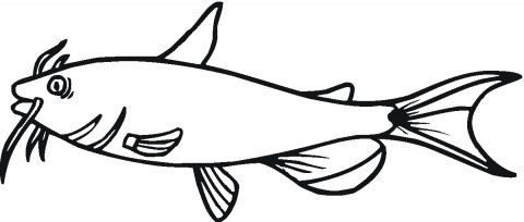 catfish-1-coloring-page.gif (480×204) | Plasma Cut Metal Art ...