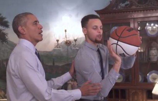 VIDEO. Obama donne des leçons de basket… et de Puissance 4 à Stephen Curry