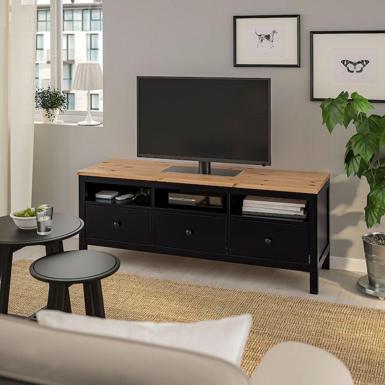 Hemnes Banc Tv Brun Noir Brun Clair Ikea In 2020 Hemnes Condo Living Room Tv Bench