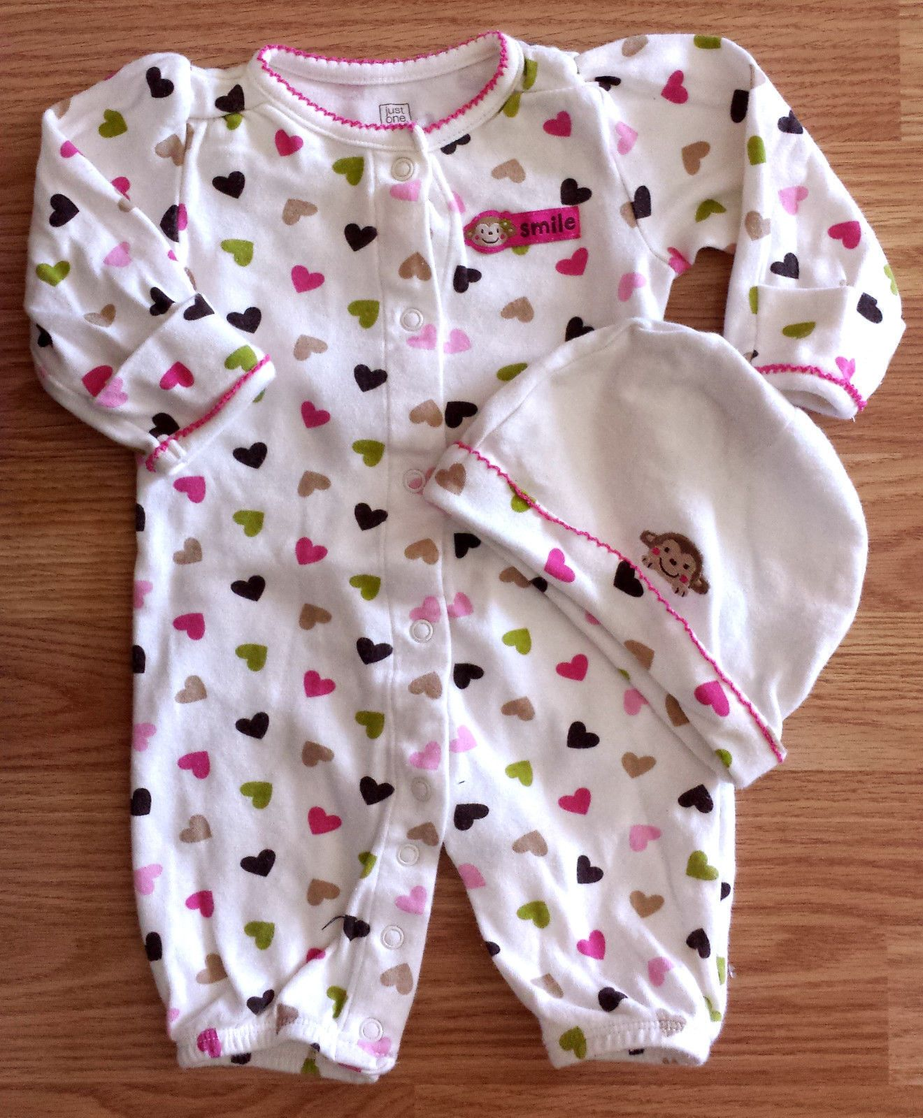 e64c22136810 Girl s Size 0-3 M Months One Pc Carter s Cream