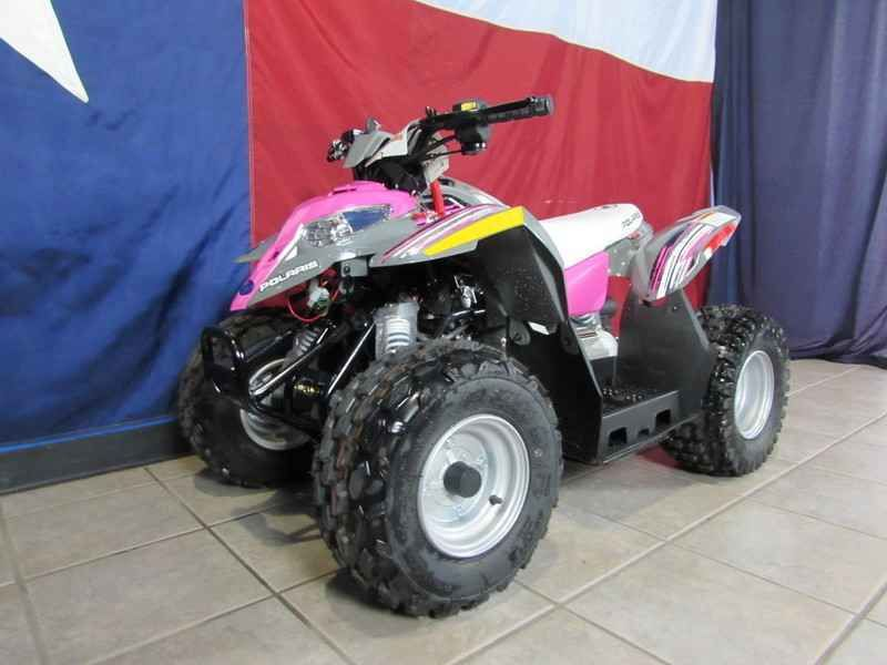New 2017 Polaris Outlaw 50 Pink Power ATVs For Sale in Texas.