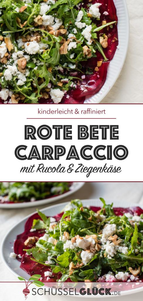 Photo of Beetroot carpaccio with arugula and goat cheese – vegetarian delight!