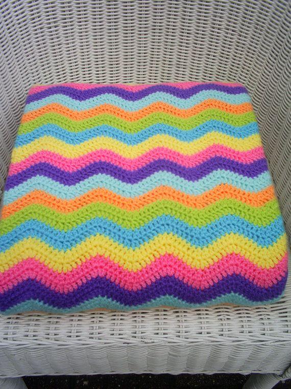 the sweet granny crochet ripple blanket / afghan por handmadebyria ...