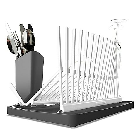 The Forminimal Dish Rack Drainer Offers Function And Style In One Package With A Stunning Modern Minimalist Design Th Dish Racks Dish Rack Drying White Dishes