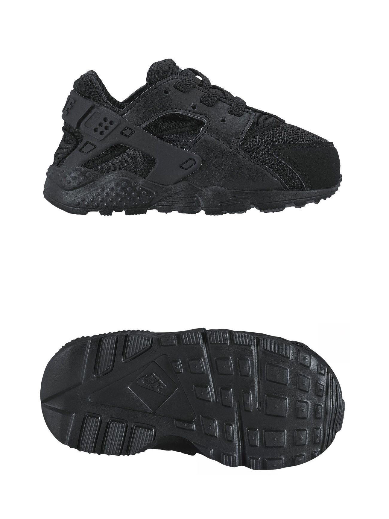 Baby Shoes 147285: New Nike Huarache Run 704950 016 Td Toddler And Infant Black  Running