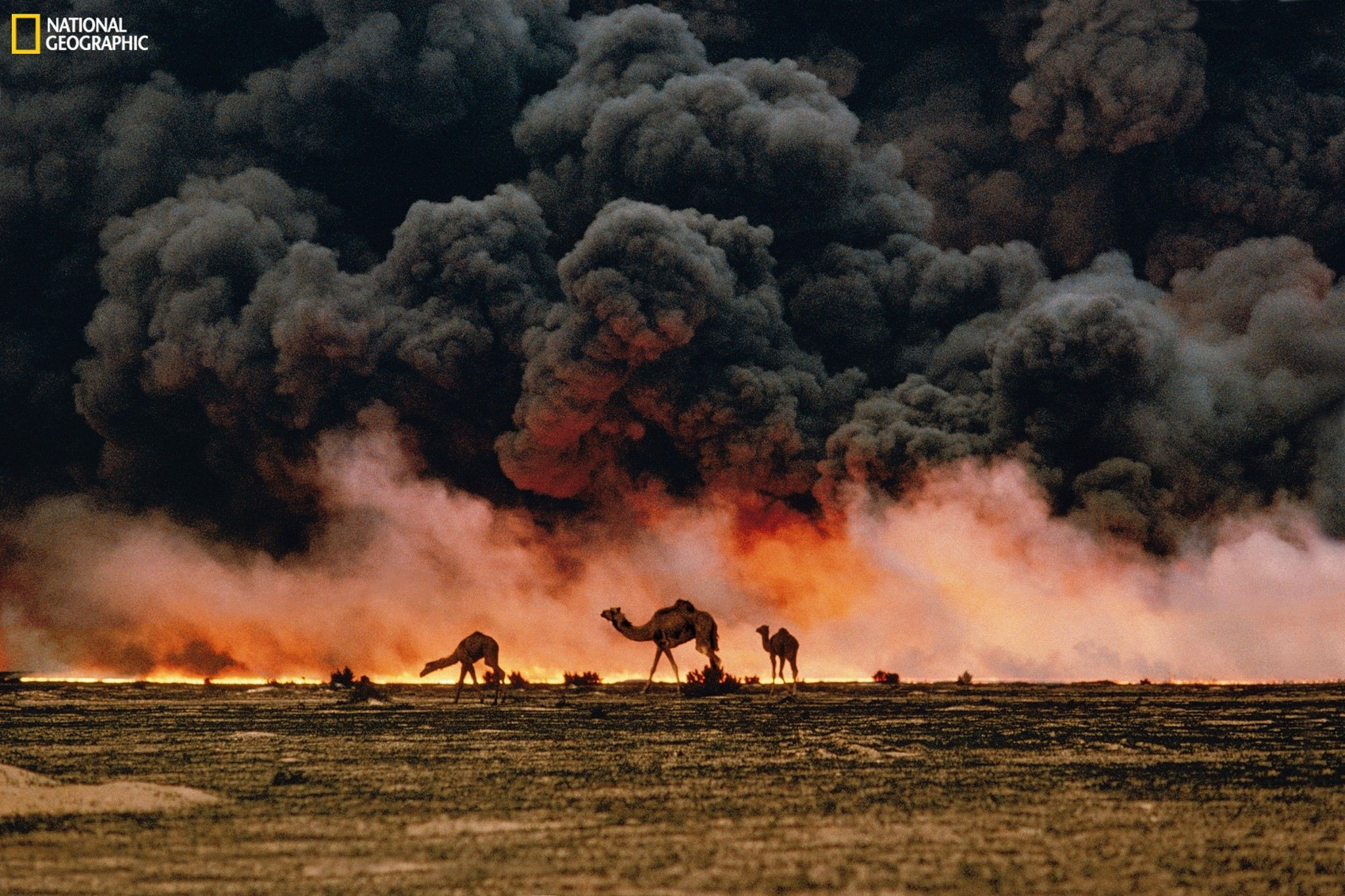 Burning Oil Files Of Southern Kuwait Steve Mccurry Steve