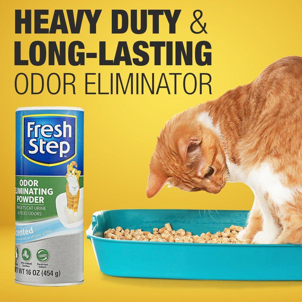 Fresh Step Litter Box Odor Eliminating Powder Best Litter Odor Eliminator 16 Ounces Fresh Scent Information Could Be Disc Litter Odor Litter Box Cat Litter